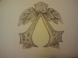 Assassins Creed Brotherhood Emblem Aquarelle by Zoey-01