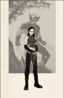 X-23 as WOLVERINE by maximegarbarini