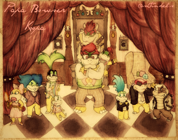 Papa Bowser and Family by Shtinkels