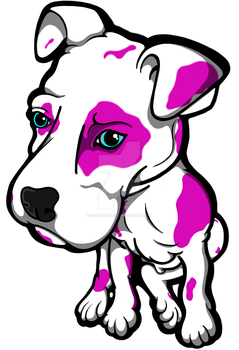 Pink Bully Puppy