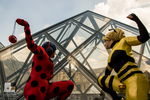 Ladybug and Queen Bee save Le Louvre ! by Aure-magik
