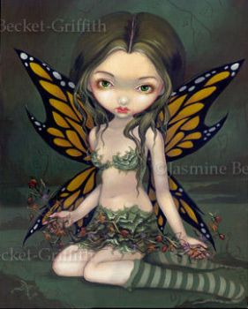 Fairy with Dried Flowers by jasminetoad
