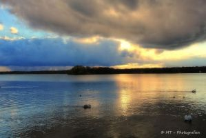 Wonderful thunderstorm mood at the swan lake 4 by MT-Photografien