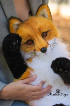Poseable toy commission Red fox by MalinaToys