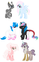 Adopted Ponies 130 by FrostEquinoxx