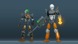 Toa Thode (Bionicle, Friend's OC) by TheMugbearer