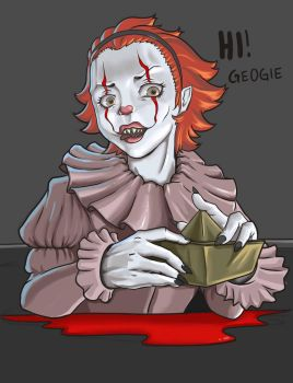 Pennywise (female ver.) named Pennyrose by ayk206