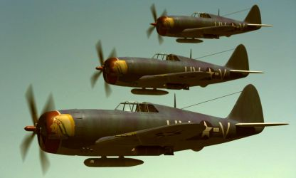 P47 Thunderbolt formation. by Emigepa