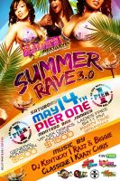 Summer Rave 2011 Flyer Back by Brainz-Designz