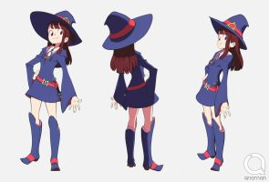 Akko little witch academia 3d by QNAMAN