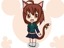 Robyn_cell chibi neko  Full color by Drawmanex