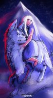 Wolf and Girl by Akiuumi