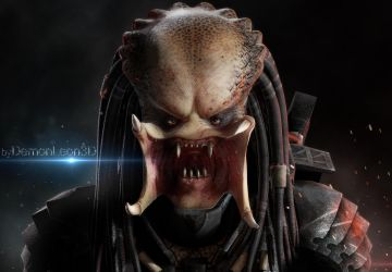 the Predator's Face by DemonLeon3D