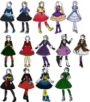 Superhero x Lolita designs 3 by sirenlovesyou