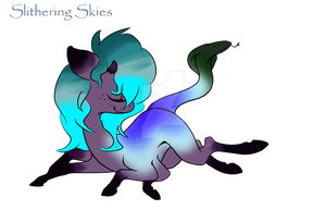 Slithering Skies the Spider Snake-tail pony by Darumemay