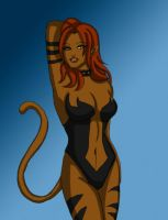 Nightcat Pin Up by Persnicketese