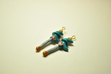 Commission: Sailor Neptune Henshin Wand Charms by eserenitia