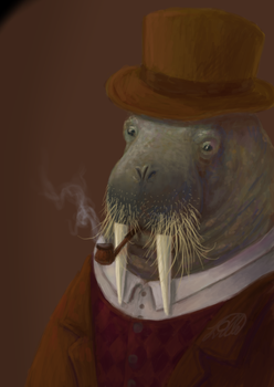 Walrus gentleman by llille