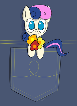 Bonbon Holding Flowers by MusicalWolfe