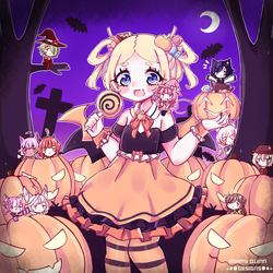 Halloween with Charlotte and Friends by MarnyQuinn