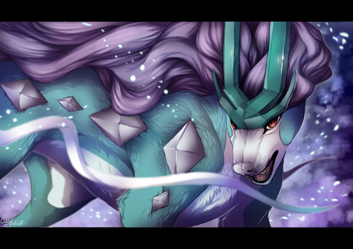 Suicune used blizzard by LuckyPaw