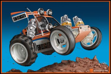RC Cartoon of Team Associated RC10 Iconic model by PIKEO