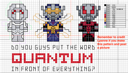 Antman And The Wasp cross stitch pattern by lpanne