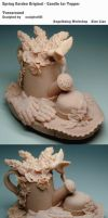 Spring Garden Original - Candle Jar Topper by sculptor101