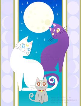 Luna, Artemis and Diana by keevs