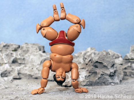 3D printed Sumo action figure pose H by hauke3000
