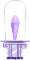 Crystal and Pedestal by tamalesyatole