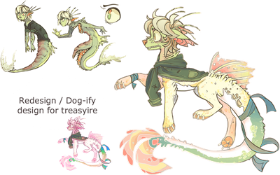 Redesign/ dog-ify design For Treasyire by Human-Total