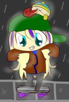 SP - PC - Stevie and Cartman in rain by TweekPark