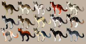 cat adoptables  {closed} by HappyHappyA