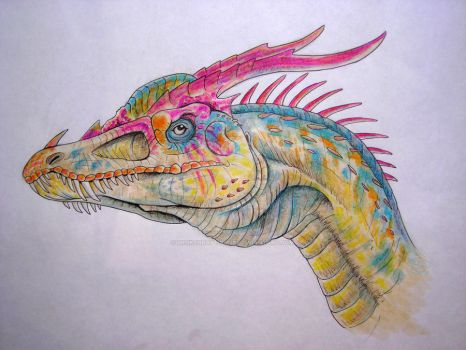 Bright Colored Dragon by BrokenRapture781