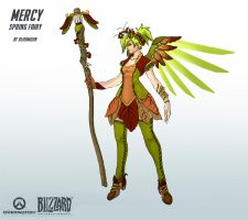 Mercy Spring Skin by Alikamoon