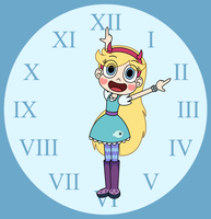 Star Butterfly starts Daylight Saving Time by Deaf-Machbot