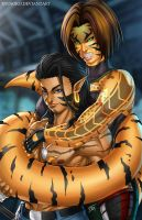Ndolkah and Miss Serpent  - Commission by Ryusoko
