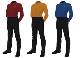 Class A Starfleet Uniform undershirt (male) by JJohnson1701