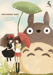 Kiki and Chihiro and Totoro by glass-dolly