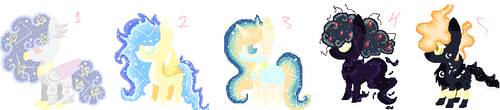 MLP ADOPS!! (OPEN AUCTION)!! 10 points each by LaishaOkami