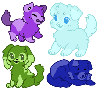 More Gem pups Adoptions ( Open  ) by KrystalCatGaming