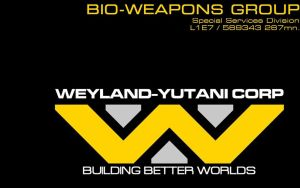 Weyland Yutani Business card in MicrogammaDBoldExt by eaglespear