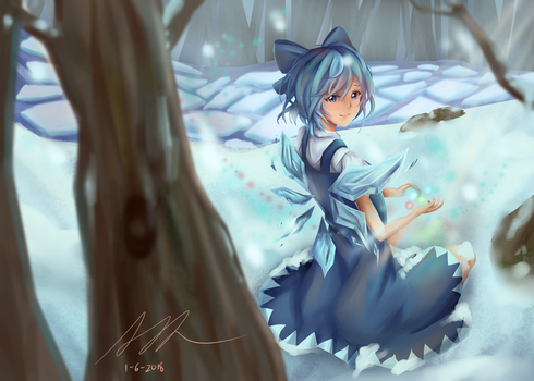 [Fanart] Cirno | +Speedart, Download by hellfire153