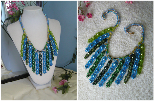 Mossy Lagoon necklace by HeddaLee