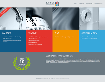 Zabel Haustechnik Website by SebastianKlammer