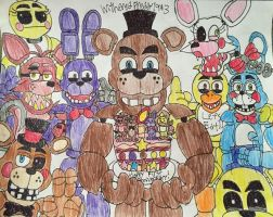FNAF: The First Anniversary by WitheredFreddy1993