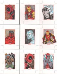 Marvel 70th sketch cards 15 by eugenecommodore