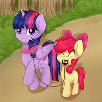 Request: A walk with Twilight by Chiweee