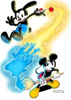 Epic Mickey - Mickey and Oswald by BabyMessina89
